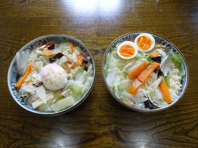 2020/05/17 キャンプ飯 肉入りカット野菜入りラーメン