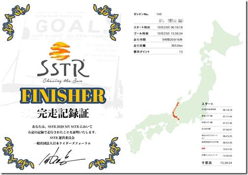 SSTR2020走行記録証
