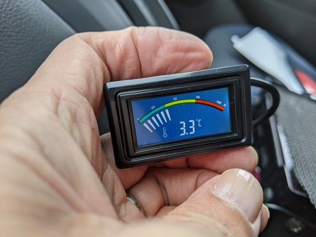2021/01/17 NV200 車外温度計の増設